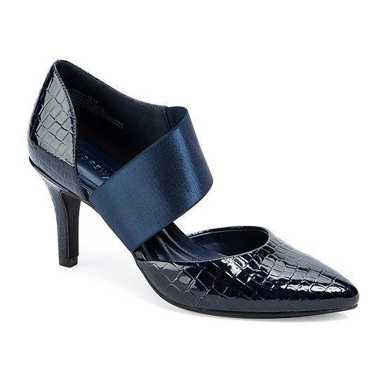 Andrew Geller Womens Maresa Pumps Pointed Toe Cone Heel