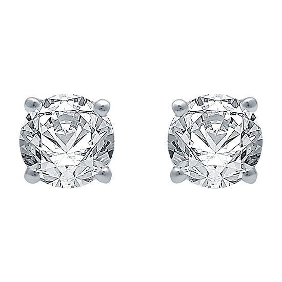 Classic Collection 3/4 CT. T.W. Genuine White Diamond 10K White Gold Stud Earrings