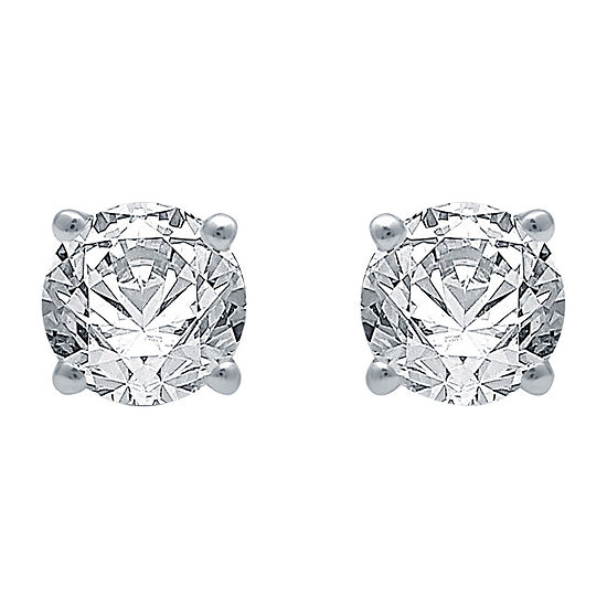Deluxe Collection 3/4 CT. T.W. Genuine White Diamond 14K White Gold Stud Earrings
