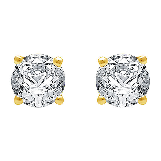Deluxe Collection 3/4 CT. T.W. Genuine White Diamond 14K Gold Stud Earrings