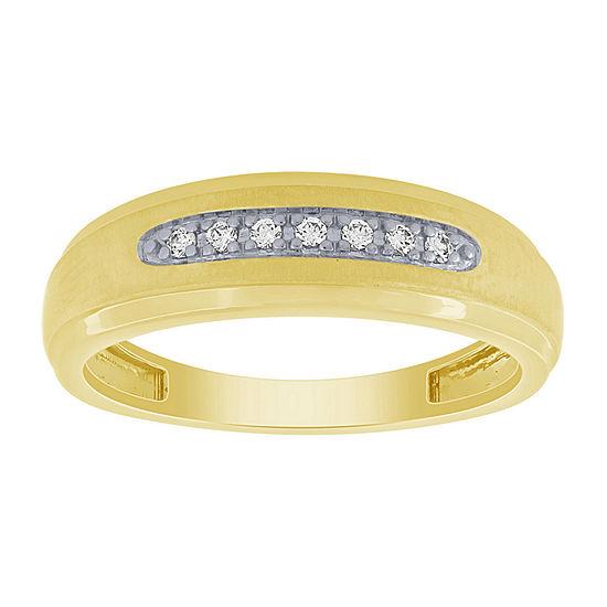 Womens 1/10 CT. T.W. Genuine White Diamond 10K Gold Sterling Silver Bridal Set
