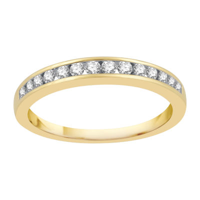 1/4 CT. T.W. Diamond 10K Gold Wedding Band