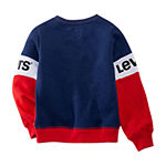 Levi's Girls Crew Neck Long Sleeve Sweatshirt - Big Kid