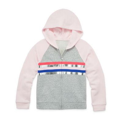 Xersion Cotton Fleece Girls Raglan Sleeve Hoodie - Preschool / Big Kid
