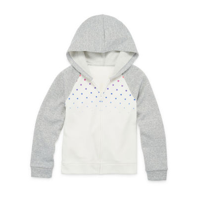 Xersion Cotton Fleece Little & Big Girls Raglan Sleeve Hoodie