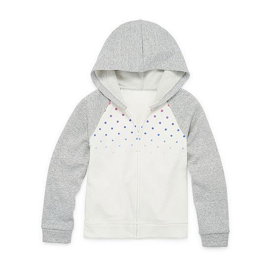 Xersion Cotton Fleece Little & Big Girls Raglan Sleeve Hoodie