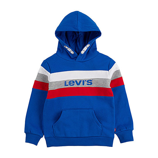 Levi's Boys Hooded Neck Long Sleeve Sweatshirt - Toddler