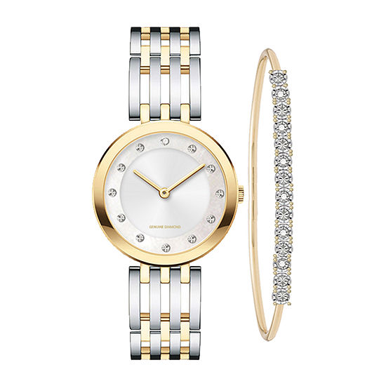 Red Bow  Deal 1/10 C.T. T.W. Womens Diamond Accent Two Tone 2-pc. Watch Boxed Set-7646g-18-B34