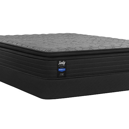 Sealy Posturepedic Chestnut Street Plush Pillow Top - Mattress + Box Spring, Twin, Gray