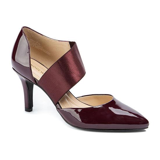 Andrew Geller Womens Maresa Pumps Pointed Toe Stiletto Heel