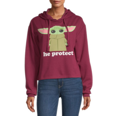 Mighty Fine Juniors Womens Hooded Neck Long Sleeve Star Wars Sweatshirt