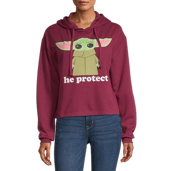 Mighty Fine Juniors Womens Hooded Neck Long Sleeve Star Wars Sweatshirt