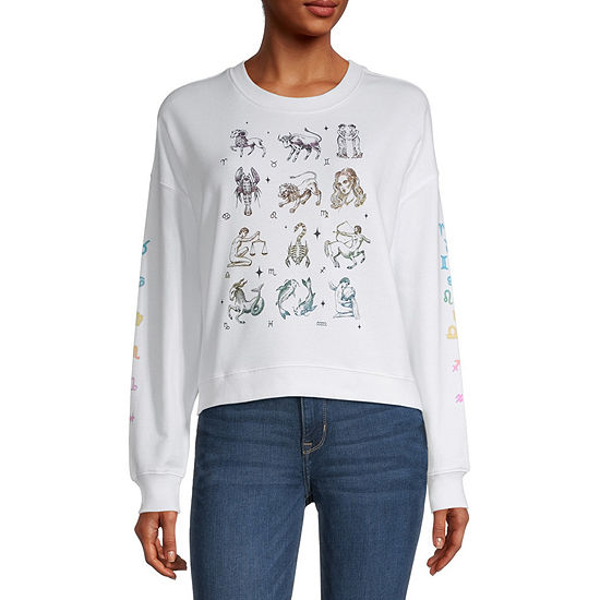 Miken Juniors Zodiac Womens Crew Neck Long Sleeve Sweatshirt