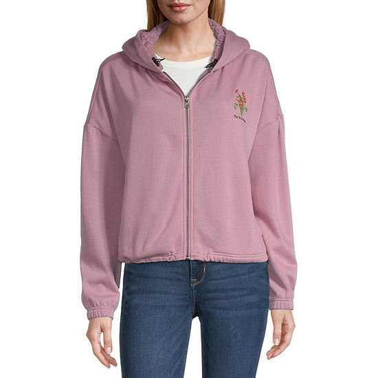 Mighty Fine-Juniors Womens Long Sleeve Fleece Hoodie