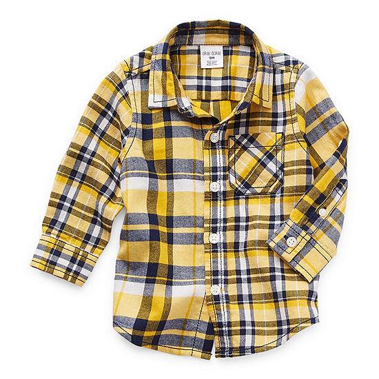 Okie Dokie Baby Boys Long Sleeve Button-Down Shirt