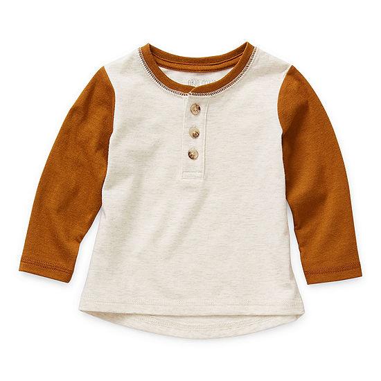 Okie Dokie Baby Boys Long Sleeve Henley Shirt