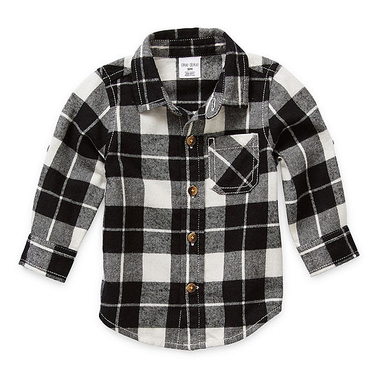 Okie Dokie Baby Boys Long Sleeve Button-Down Shirt