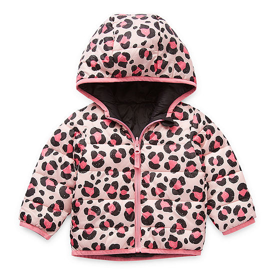 Okie Dokie Baby Girls Reversible Midweight Puffer Jacket