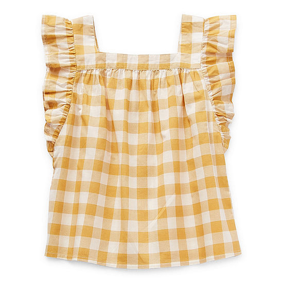 Okie Dokie Little Girls Square Neck Sleeveless Blouse