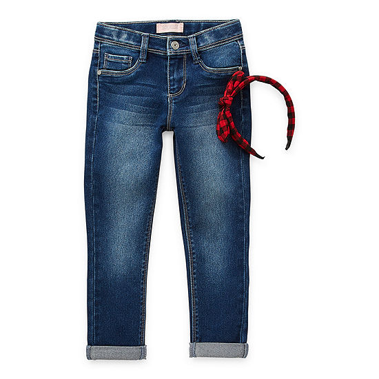Blue Spice Little Girls Mid Rise Skinny Fit Jean