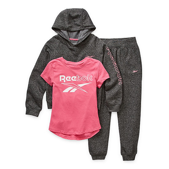 Reebok Big Girls 3-pc. Pant Set