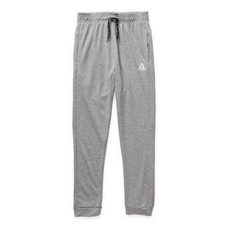 Reebok Jogger Little & Big Boys Cuffed Sweatpant, 4 , Gray