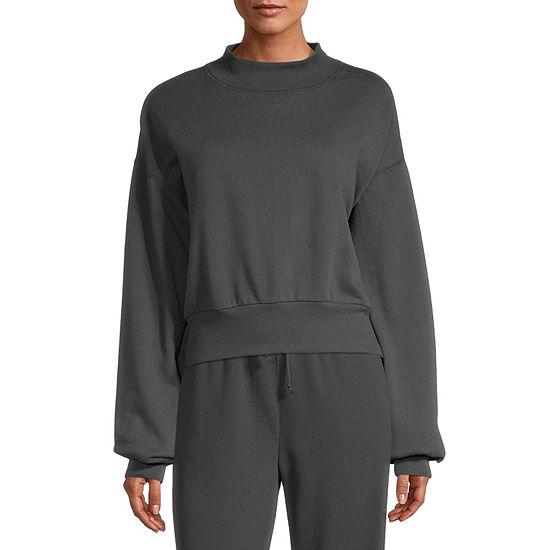 Flirtitude Juniors Mock Neck Sweatshirt