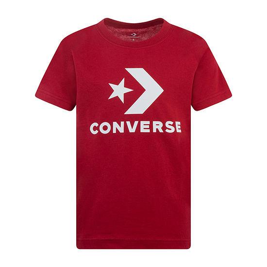 Converse Big Boys Crew Neck Short Sleeve Graphic T-Shirt
