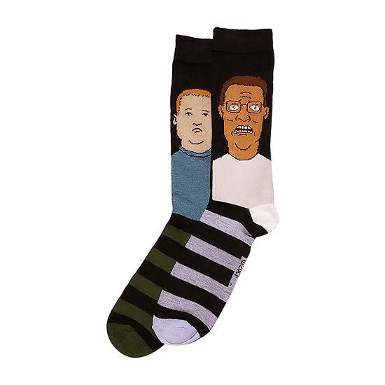 King Of The Hill Mens 2 Pair Crew Socks