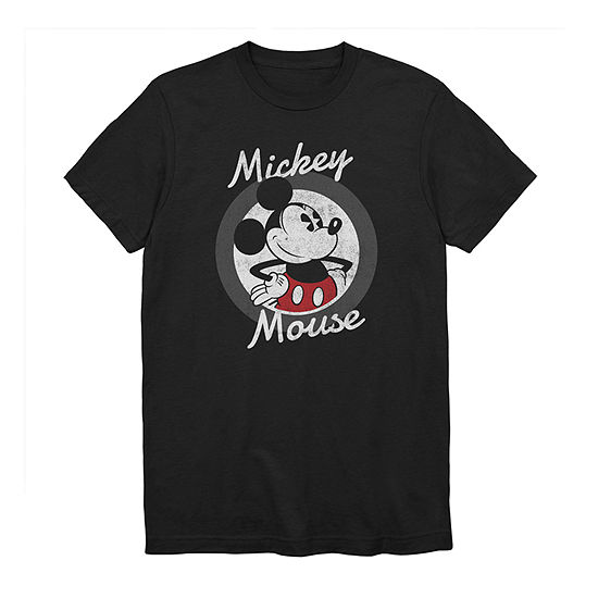 Big and Tall Mens Crew Neck Short Sleeve Vintage Mickey Mouse Graphic T-Shirt