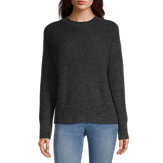 a.n.a. Womens Crew Neck Pullover Sweater