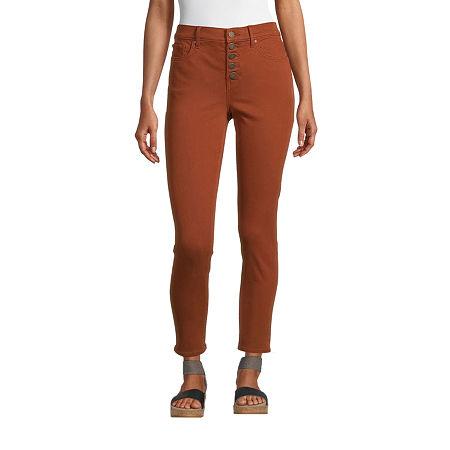 a.n.a Womens High Rise Skinny Fit Jean, 4 , Orange