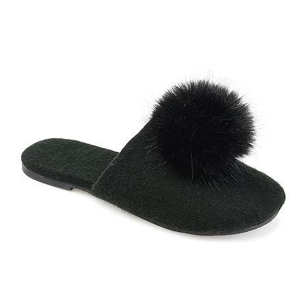 1960s – 1970s Lingerie & Nightgowns Journee Collection Womens Nightfall Slip-On Slipper 6 Medium Black $37.50 AT vintagedancer.com