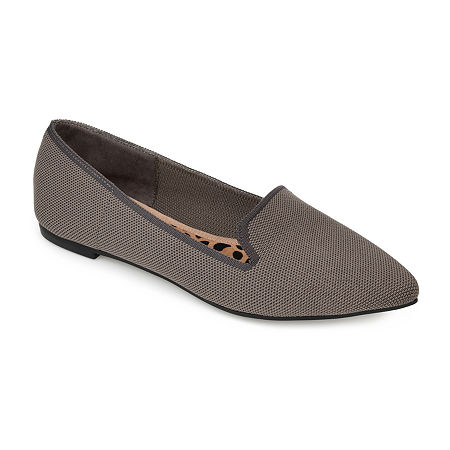 Journee Collection Womens Vickie Loafers, 8 1/2 Medium, Gray