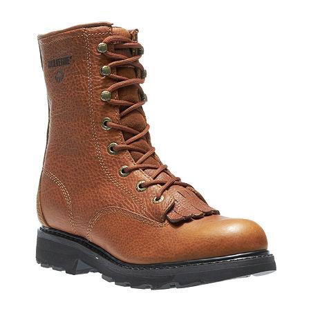 Wolverine Mens Herrin Summer Lace Up Flat Heel Boots, 11 Extra Wide, Beige