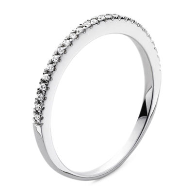 Modern Bride® Signature 1/10 CT. T.W. Diamond 14K White Gold Wedding Band