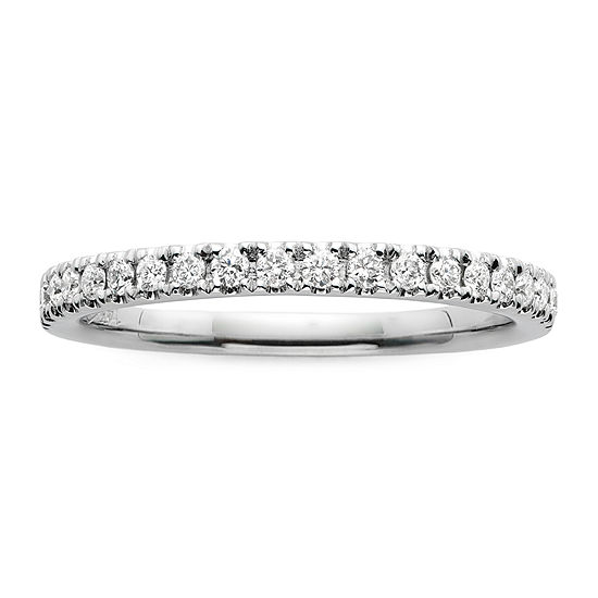 Modern Bride® Signature 1/4 CT. T. W. Diamond 14K White Gold Wedding Band