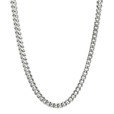 "Mens Stainless Steel 22"" 4mm Foxtail Chain"
