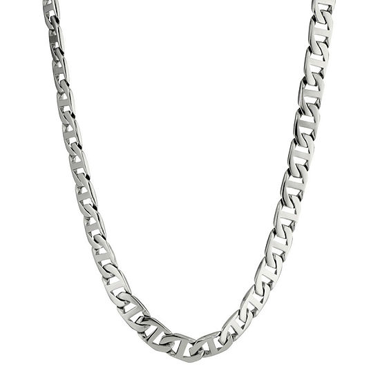 "Mens Stainless Steel 24"" 4mm Foxtail Chain"