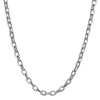 "Mens Stainless Steel 18"" 5mm Thin Rolo Chain"