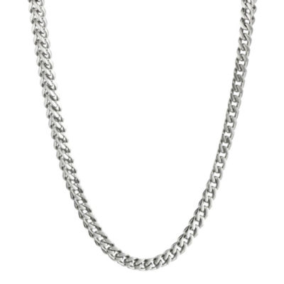 "Mens Stainless Steel 30"" 4mm Thin Rolo Chain"