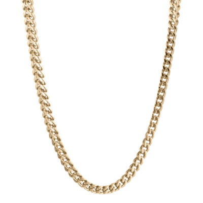 "Mens Stainless Steel & Gold-Tone IP 20"" 4mm Foxtail Chain"
