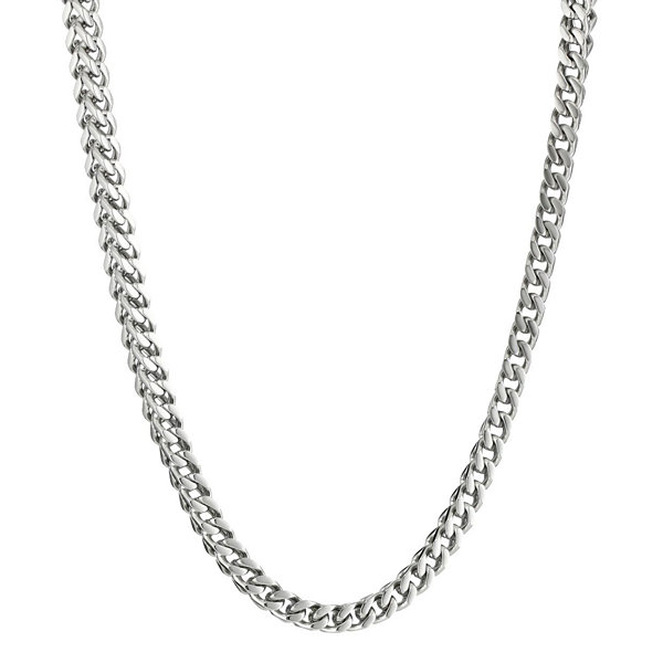 "Mens Stainless Steel 20"" 4mm Foxtail Chain"