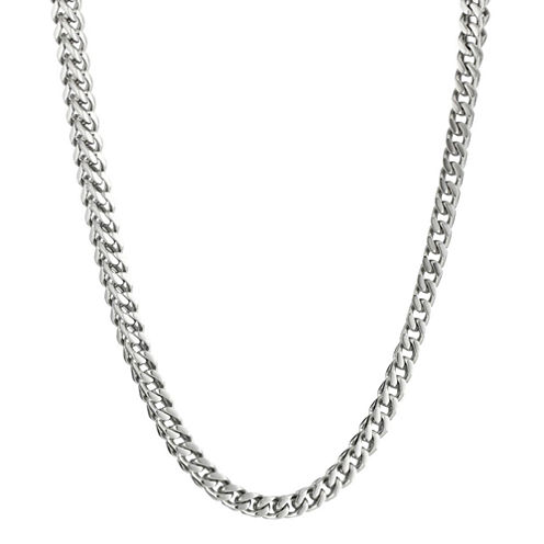 """Mens Stainless Steel 20"""" 4mm Foxtail Chain"""