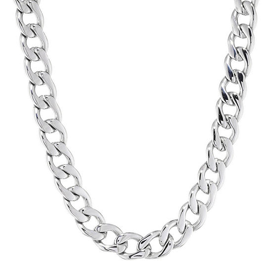 """Mens Stainless Steel 22"""" 13mm Chunky Curb Chain"""