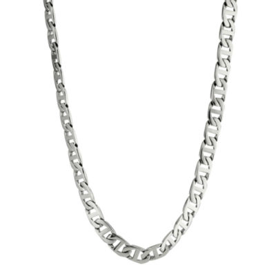"Mens Stainless Steel 30"" 10mm Marine Link Chain"