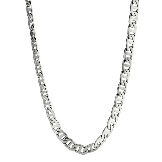 """Mens Stainless Steel 30"""" 10mm Marine Link Chain"""