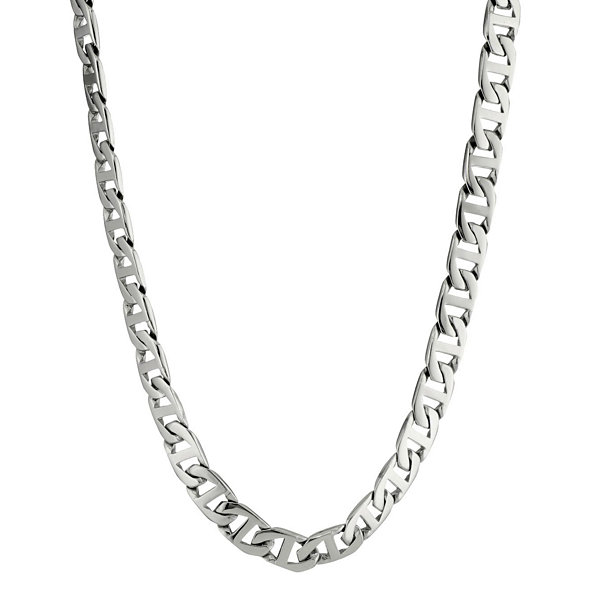 "Mens Stainless Steel 24"" 10mm Marine Link Chain"