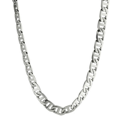 "Mens Stainless Steel 20"" 10mm Marine Link Chain"