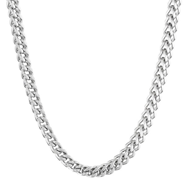 "Mens Stainless Steel 30"" 6mm Foxtail Chain"